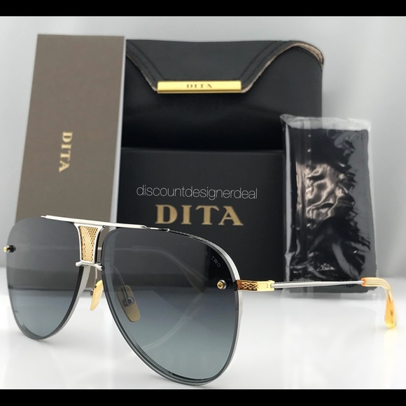 ee8f40517f4 AUTHENTIC DITA DECADE TWO SILVER 18K GOLD